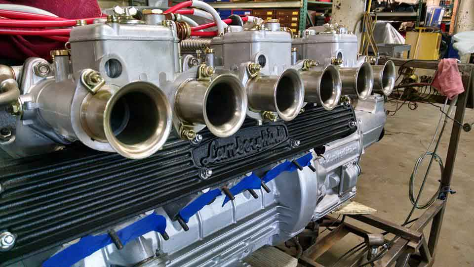 Lamborghini V12 Sidedraft Weber Carburetors